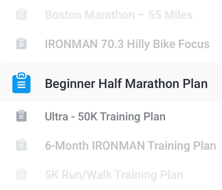 List of running and triathlon training plans